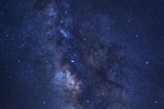 Starry night sky, Milky way galaxy with stars and space dust in. The universe, Long exposure photograph, with grain stock image