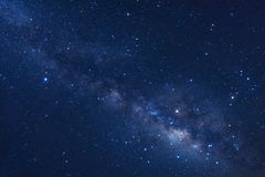 Starry night sky, Milky way galaxy with stars and space dust in. The universe, Long exposure photograph, with grain stock photos