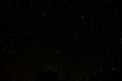 Starry Night Sky. With a ot of Stars Background Royalty Free Stock Photo