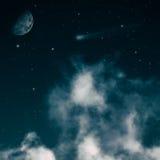 Starry night, spooky night. Royalty Free Stock Photos