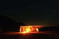 Starry night in  summer desert Royalty Free Stock Photo