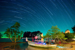 Starry night in Thailand Royalty Free Stock Image