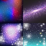Starry outer galaxy cosmic space illustration universe background sky astronomy nebula cosmos night constellation vector Stock Photo