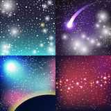 Starry outer galaxy cosmic space illustration universe background sky astronomy nebula cosmos night constellation vector Stock Photography