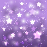 Starry purple background Stock Images