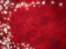 Starry red background stock photo