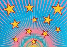 Starry retro background Stock Image