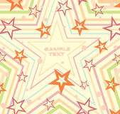 Starry sample.Vector. Royalty Free Stock Photography