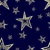 Starry seamless pattern. Eps 10 seamless pattern set with stars and sky. Four contrast colorful variants Royalty Free Stock Image
