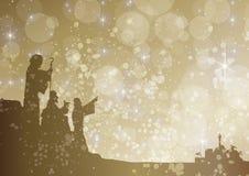 Starry shepherds. Shepherds looking at star above bethlehem Royalty Free Stock Photos