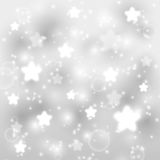 Starry silver background Royalty Free Stock Image