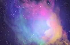 Starry skies / space / digital painting. Starry sky, space, colored clouds, fog Stock Photography