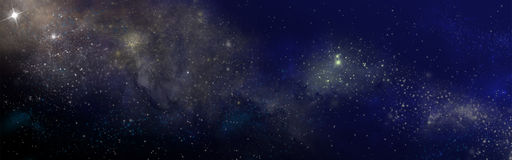 Starry sky. With the colors of the nebula Royalty Free Stock Images