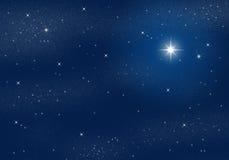 Starry Sky. Deep dark night scene with starry sky Stock Photos