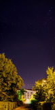 Starry sky above the city. Russia Royalty Free Stock Photo