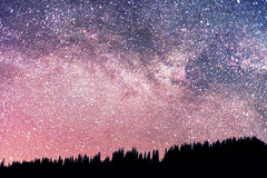 Starry sky above the earth Royalty Free Stock Photography