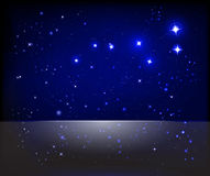 Starry sky background. Vector starry sky and Great Bear constellation Royalty Free Stock Photography