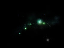 Starry sky background. Illustration of a night sky with magic glowing stars Royalty Free Stock Photos