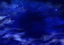 Starry sky. Beautiful background of the night, starry sky in the open space Stock Photos