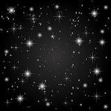 The starry sky on a black background. Abstraction. illustration Stock Images