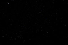 Starry sky. Bright stars on a clear night, away from light pollution Stock Image