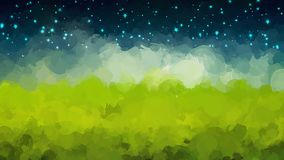 Starry sky brush strokes background. Vector version Stock Photography