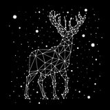 Starry sky constellation deer Stock Images
