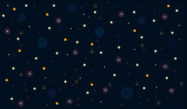 Starry sky. Starry dark infinite black sky Stock Image