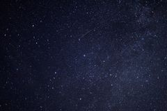Starry Sky. A dark night sky with lots of stars Royalty Free Stock Images