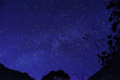 Starry Sky. Doi Luang Chiang Dao, Chiang Mai, Th stock photos