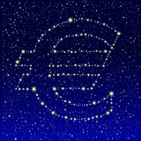 Starry sky Euro Royalty Free Illustration