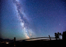 Starry sky. Fantastic views of the sky and light away from the city Stock Images