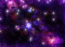 Starry sky infinite Universe amazing and beautiful Royalty Free Stock Images
