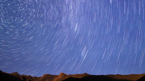 Starry sky. Line. Time Lapse stock video