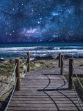 Starry Sky - Mallorca. Starry sky above the sea at wonderful Mallorca Royalty Free Stock Photo