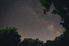 Starry sky with milky way Royalty Free Stock Photo