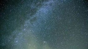 Starry sky, the Milky Way stock footage