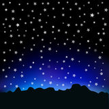 Starry sky and mountain landscape Royalty Free Stock Photos