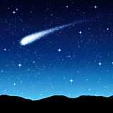 Starry sky at night Royalty Free Stock Image