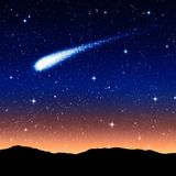 Starry sky at night. With comet or shooting star Stock Photography