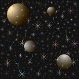 STARRY SKY. Seamless pattern Stock Images