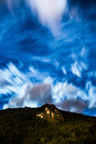 Starry sky. Night seeing of a starry star with a mountain Stock Photo