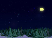 Starry Sky At Night Royalty Free Stock Photography