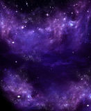 Starry sky in the open space Royalty Free Stock Photo