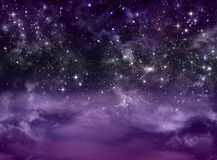 Starry sky in the open space Stock Photography