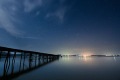 Starry Sky over the Black Sea Stock Photos