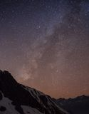 Starry sky over Machhapuchre Stock Images