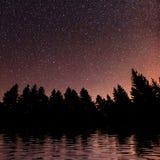 Starry sky over the sea. Carpathians. Ukraine, Europe Royalty Free Stock Photos