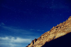 The starry sky of plateau in Tibet Royalty Free Stock Images