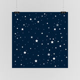 Starry sky poster on the wall. Eps 10. Stock Photography